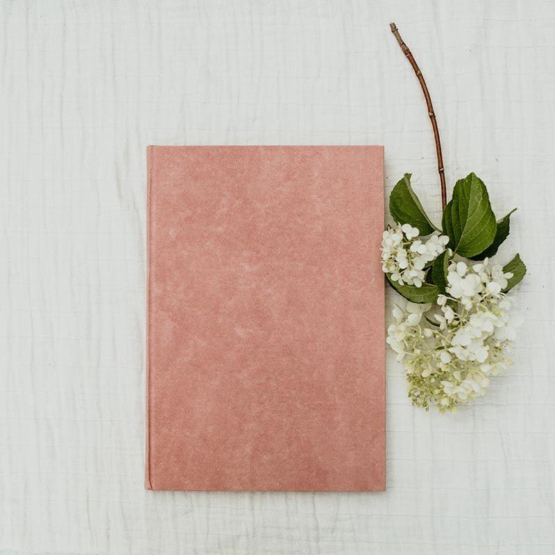 libro de firmas artesanal rosa