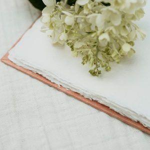 libro firmas rosa artesanal