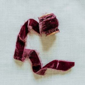 terciopelo hecho a mano burdeos berry