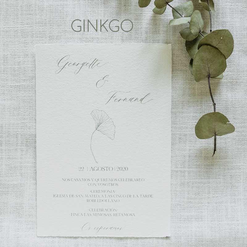 Invitación Ginkgo