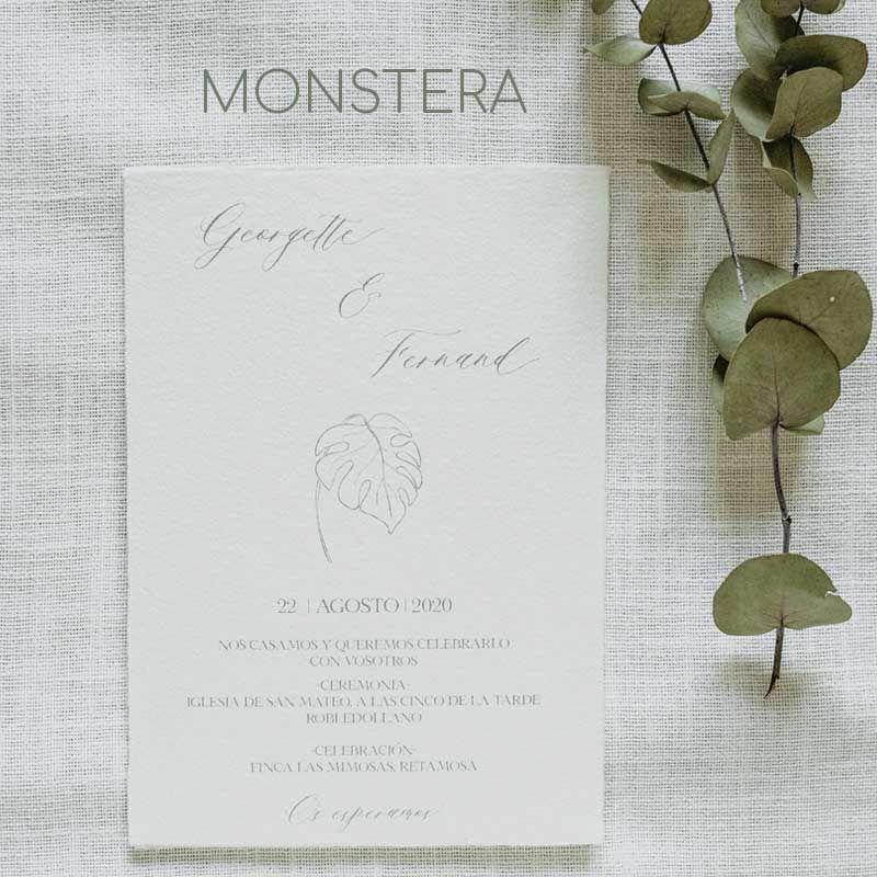Invitación Monstera