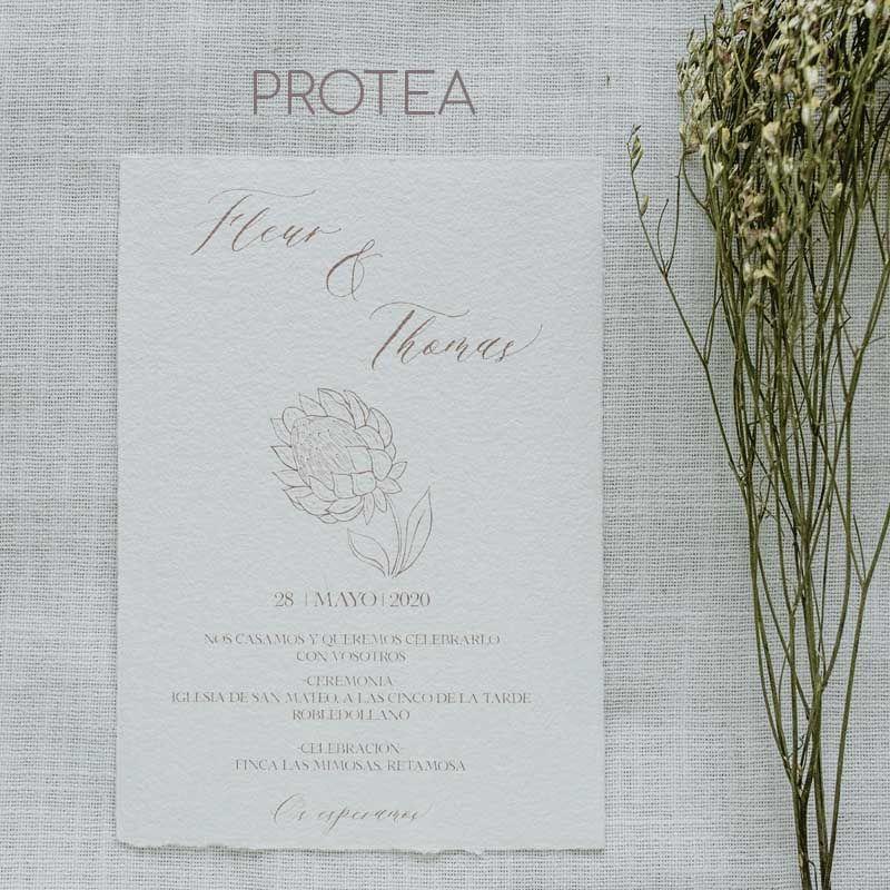 Invitacion boda protea