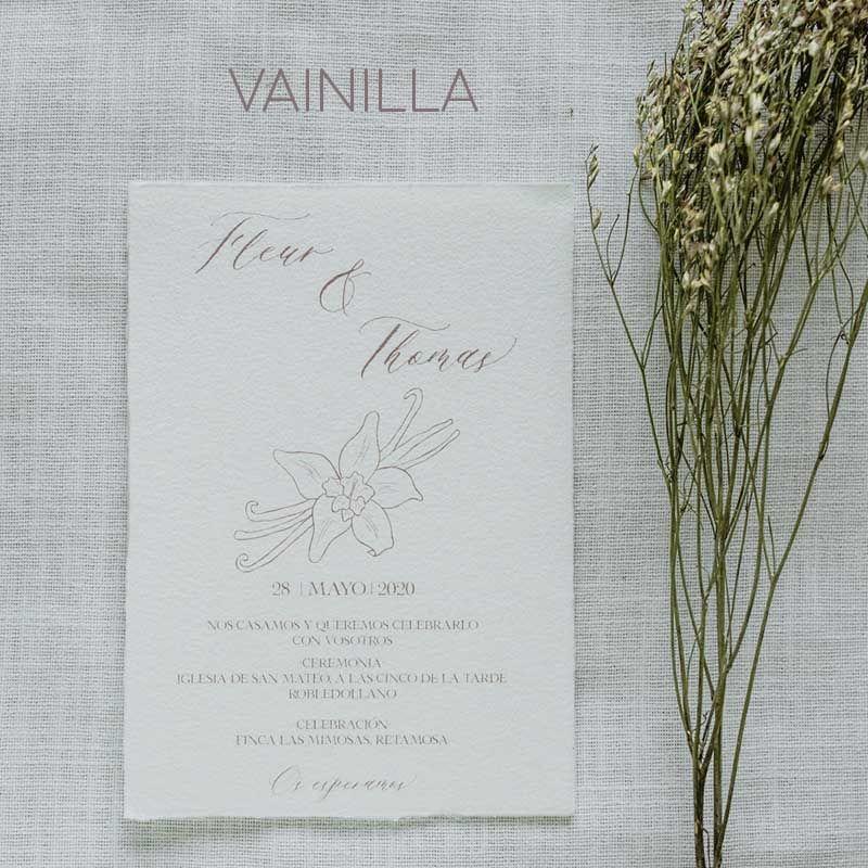 invitacion boda vainilla
